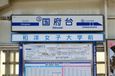 【京成】国府台駅  副駅名称広告(駅広)