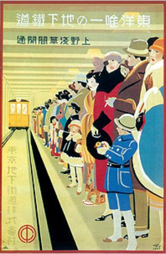 東洋唯一の地下鉄道ポスター(杉浦 非水)